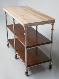stainless steel kitchen island with butcher block top butcher block stainless steel kitchen island now in stock plank