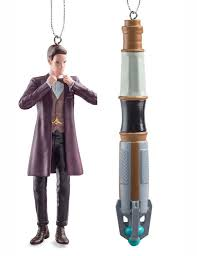 doctor who matt smith and sonic screwdriver ornaments doctor who