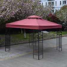 Patio Gazebo Replacement Covers by 3mx3m Gazebo Roof Top Cover Patio Canopy Replacement 2 Tier Wine