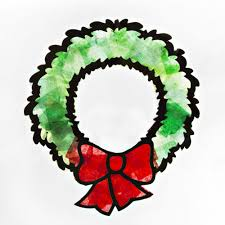 tissue paper christmas wreath kit 1 kit religious and
