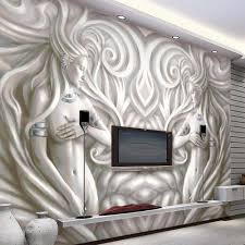 Wallpaper For Living Room Aliexpress Com Buy 3d European Sculpture Photo Murals Wallpaper