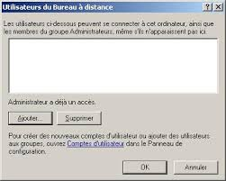 acces bureau a distance le bureau à distance de windows 2003
