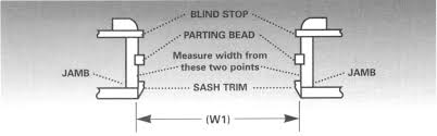 Window Blind Stop - how to measure your windows and patio doors double hung