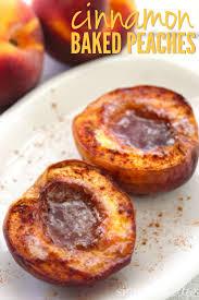 cinnamon baked peaches recipe