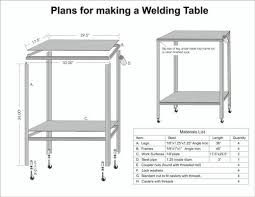diy welding table plans gypsy welding table plans f91 about remodel fabulous home interior