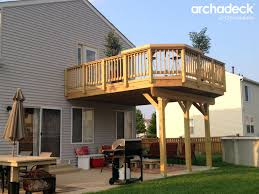 Pinterest Decks by Wood Deck Over Patio By Aurora Il Deck Builder Archadeck Of