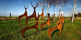 garden and sculpture garden sculptures garden metal