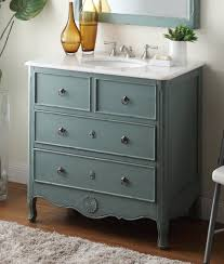 34 Bathroom Vanity 34 Inch Bathroom Vanity Cottage Style Vintage Mint Blue