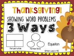 1st grade thanksgiving math word problems by math in md tpt
