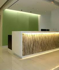 Spa Reception Desk Spa Reception Furniture Customized White Bar Nigh Spa Front