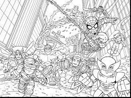good marvel super hero coloring pages with super hero squad