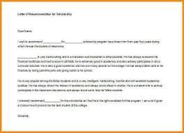 7 letter of recommendation for student scholarship workout