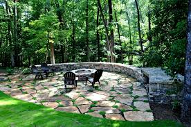 Flagstone Patio Installation Cost by A Quiet Place To Relax U0027away From It All U0027 Custom Fire Pit With