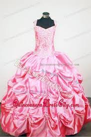 modest rose pink ball gown little birthday dresses with pick