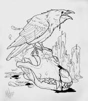 crow wolf tattoo by marymarylp on deviantart
