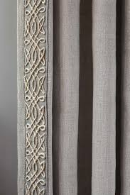 Fabric Drapes Exquisitely Bordered Trim Dresses Up Rustic Fabric Draperies