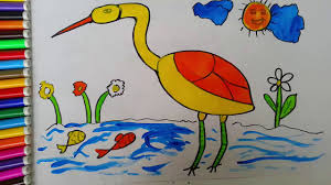 how to draw birds for kids teach children to recognize colors