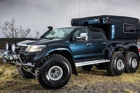 mercedes pickup truck 6x6 go off the map with the hilux at44 6x6 arctic truck video