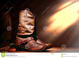 american motorcycle boots american west rodeo cowboy boots and western spurs stock photos