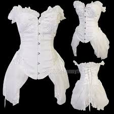 White Corset Halloween Costumes Gothic Black White Corset U0026 Skirt Vampire Fancy Dress Halloween
