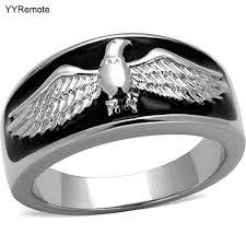 aliexpress buy new arrival fashion rings for men new arrival eagles design ring stainless steel ring black