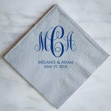 wedding napkins custom fact wedding napkins