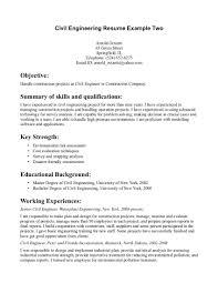 Industrial Engineer Resume Examples by Civil Engineering Career Resume Resume Templates Engineer Resume
