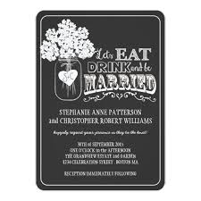 eat drink and be married invitations drink be married chalkboard style wedding invitation card