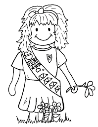 daisy scout coloring pages