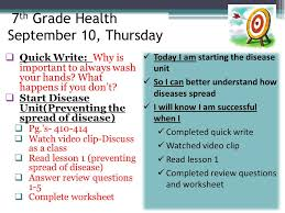 7th grade health september 1 tuesday ppt download