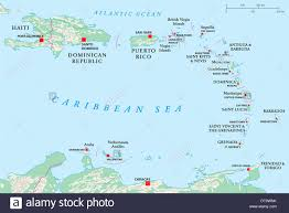 Map Of Charlotte Political Map Of Lesser Antilles Haiti And Dominican Republic