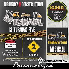 birthday under construction party invitation u2013 d8 cupcakemakeover
