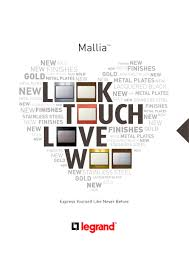 mallia legrand pdf catalogues documentation brochures