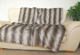 Faux Fur Bed Throw Oyster Mink Luxury Faux Fur Bed Runner
