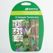 10 gripple tensioners for use with gripple nylon trellis wire to