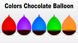 Color For 2016 Colors For Children To Learn With Color Chocolate Balloon