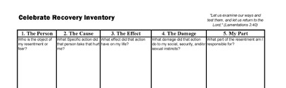 moral inventory worksheet free worksheets library download and