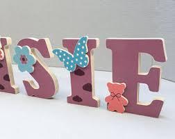 lettre decorative pour chambre bébé lettres en bois etsy