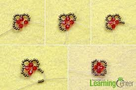 making necklace with bead images How to make a vintage beaded cube pendant necklace with red jpg