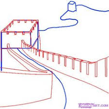 how to draw the great wall of china step 3 summer 2016