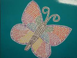 concrete poetry butterfly r any subject ke graphic