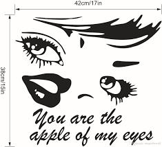 Marilyn Monroe Wall Sticker Eye Wall Art Sticker