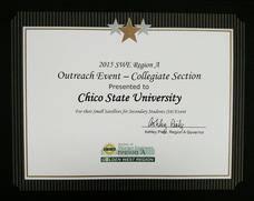 awards swe california state university chico section