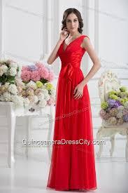 empire v neck ruching sashes chiffon dresses for dama with wine