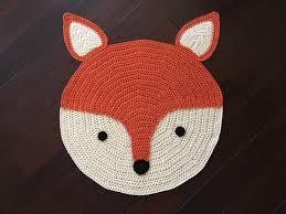 children area rugs crochet fox rug hand made rug crochet rug area rug