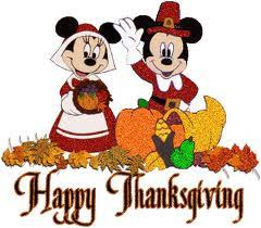 disney characters minnie and mickey happy thanksgiving