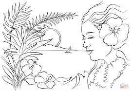 hawaiian coloring pages lezardufeu com