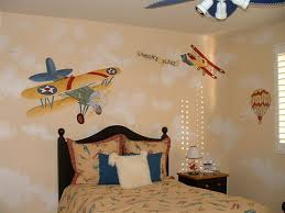 kid bedroom comely image airplane boy bedroom decoration using