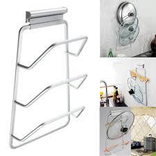 kitchen cabinet door pot and pan lid rack organizer 2021 new design kitchen space saver cabinet door pot and pan
