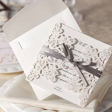 Exclusive Wedding Invitation Cards Amazon Com Wishmade 50x Square Laser Cut Wedding Invitations